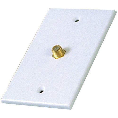 RCA Coaxial Single Plate White