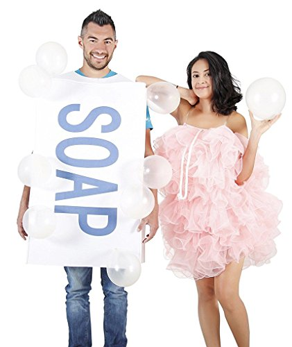 Faerynicethings Adult Soap & Loofah Costume - 2 Costumes in 1 Package - Couples Costumes]()