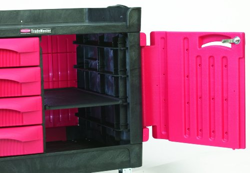 Rubbermaid Trademaster Structural Foam Service Cart With 4