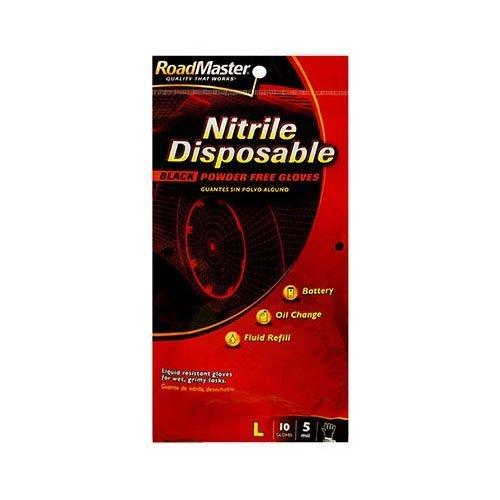 MAGID GLOVE & SAFETY AG7610TCS Nitrile Glove, Large, Black
