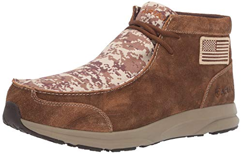 Ariat Men's Spitfire Patriot Western Boot, Antique Mocha Washed Suede/Sand camo, 11EE