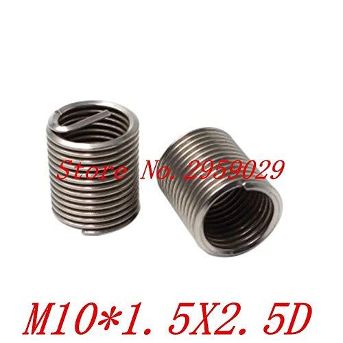 Ochoos 50pcs M101.02.5D m10 Wire Thread Insert Stainless Steel m10 Screw Bushing,Wire Screw Sleeve,Thread Repair