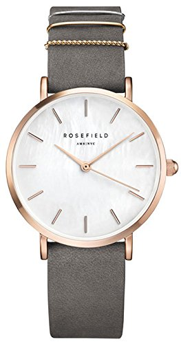 (Rosefield west Village Womens Analog Quartz Watch with Leather Bracelet WEGR-W75)