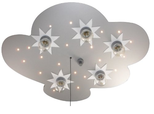 Niermann Standby LED Ceiling Lamp Cloud, Silver Stars by Niermann Standby