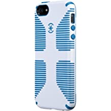 Speck Products SPK-A0484 Candy Shell Grip Case for iPhone 5 and 5S-Retail Packaging, White/Harbor Blue