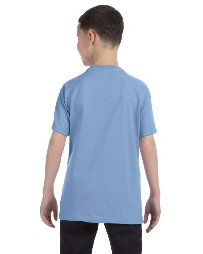 Jerzees Youth 5.6 oz., 50/50 Heavyweight Blend T-Shirt, XL, LIGHT BLUE (Jerzees Blend Heavyweight Youth)
