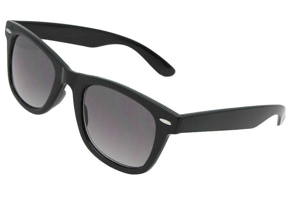545fe1f6e2a Amazon.com  Retro No Line Progressive Bifocal Sunglasses Style B125 (Black  Frame-Gray Lenses