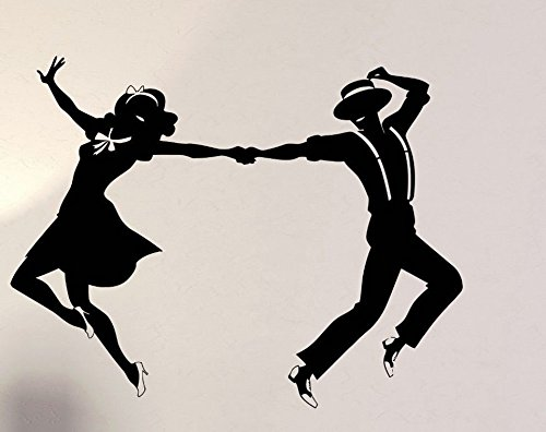 Swing Dance Couple Rubber Stamps custom stamps - Dance Square Swing