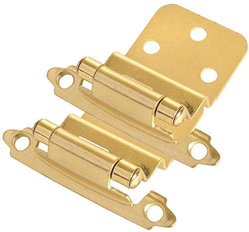 10 Pair Pack - Cosmas 17128-BB Brushed Brass Cabinet Hinges 3/8