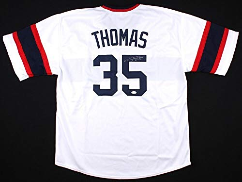 Frank Thomas Autographed Signed 1983 Throwback White Sox Jersey (Size XL) - JSA Certified Memorabilia ()