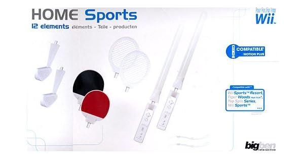 Big Ben Mega Sports Pack 12in1 - accesorios de juegos de pc (Negro, Color blanco, 325 mm, 200 mm, 110 mm): Amazon.es: Videojuegos