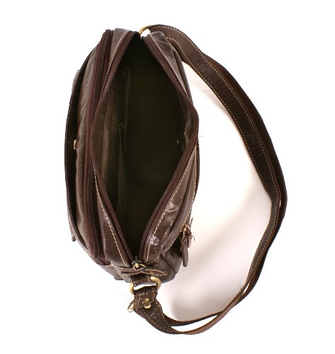 Oxbridge Satchel's - Bolso estilo cartera de Piel para mujer Marrón marrón