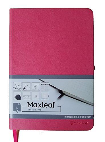 Lite Traveler (Maxleaf Wildlife Medium 96sheets A5+ (6.3 x 8.5) Hardcover Notebook - PU Leather, 80gsm Cream Pages, Elastic Closure, Pen Holder +Pocket Traveler's Diary Notebook (Light Red))