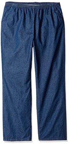 Chic Classic Collection Women's Petite Size Plus Stretch Elastic Waist Pull-On Pant, Original Stonewash Denim -