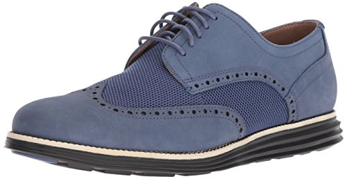 Cole Haan Men's Original Grand Shortwing Oxford, Washed Indigo Nubuck/Sandshell, 9.5 W ()