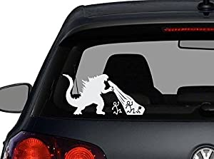 Amazoncom Godzilla Stick Figure Family Decal Sticker Car Home - Family decal stickers for carsamazoncom stick family stick family car window wall laptop decal