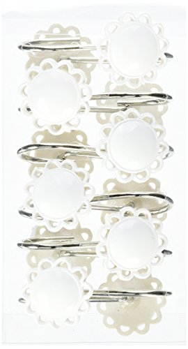 Carnation Home Fashions Filigree Resin Shower Curtain Hooks, White, Set of 12