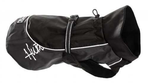 Hurtta Pet Collection Raincoat, 28-Inch Length, 25-29-Inch Neck, 39-43-Inch Chest, Black by Hurtta