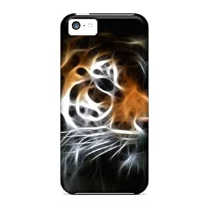 Premium GUN7166MgBY Cases With Scratch-resistant/ Tiger Cases Covers For Iphone 5c