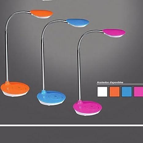 Flexo led 4w fucsia opcion 4 colores lampara escritorio infantil o juvenil …