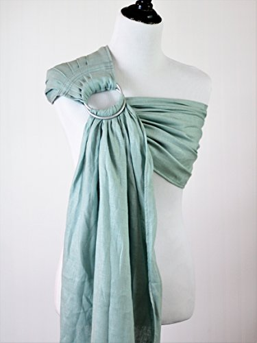 Bibetts Pure Linen Ring Sling 'Aqua' Baby Carrier - CPSIA compliant - Infant, Toddler and Baby Carrier
