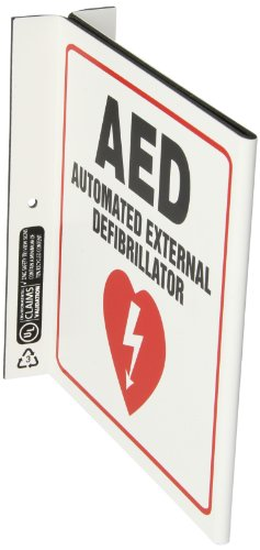 ZING-2563-Eco-Safety-L-Sign-AED-7Hx25Wx7D-Recycled-Plastic