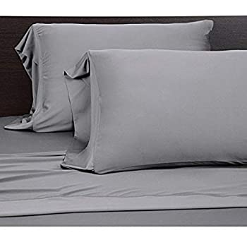 COOLEX Ultra-Soft Bed Sheet Set - Moisture Wicking, Wrinkle, Fade, Stain Resistant (King, Graphite)