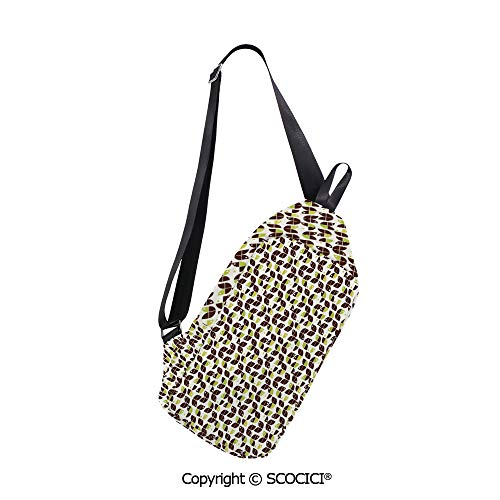 SCOCICI Crossbody Bag Retro Surreal Circle Forms Dots Sixties Inspired Design (Mobile Forms Best Practices)
