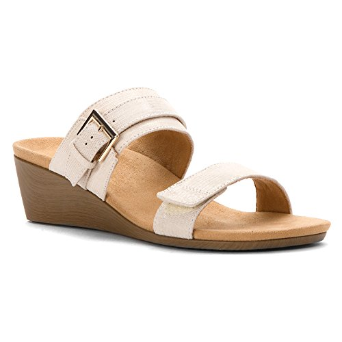 4 Snake Sandal Womens Vionic Natoma Cream UK White AqIfUwp
