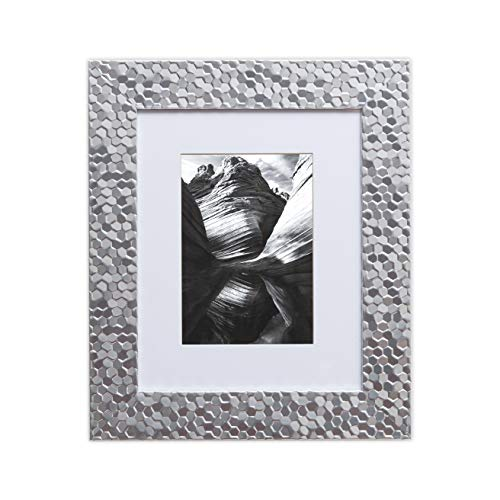 (8x10 Picture Frame Silver - Matted to 5x7, Frames by EcoHome)