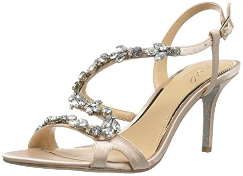 Badgley Mischka Jewel Women's Ganet Heeled Sandal, Champagne, 11 Medium US by Badgley Mischka