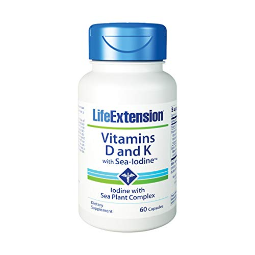 in D and K with Sea-Iodine, 60 Capsules (Pack of 3) ()