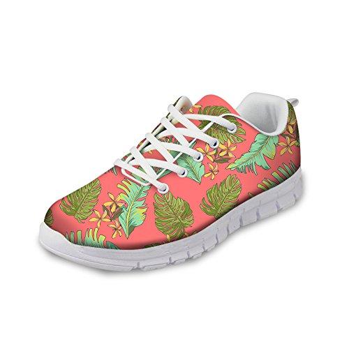 Bigcardesigns Kvinnors Mode Löparskor Sneakers Snörning Stil 4