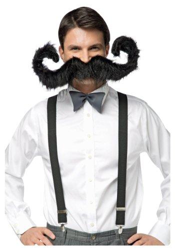 [Rasta Imposta 30 Inch Super Stache, Black, One Size] (Bk King Costume)