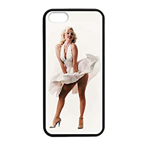 Marilyn Monroe for iPhone 5 5s Case Cover 12752 Laser Print Technology with Shockproof Protection Rubber Sides