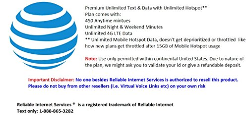 & 4G LTE Mobile Data with Unlimited Hotspot full speed ()