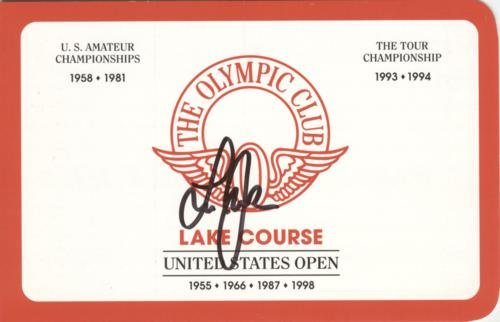 Lee Janzen Autographed The Olympic Club Lake Course Golf Scorecard - 1998 U.S. Open Champion