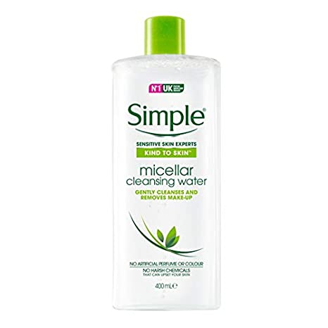 Simple agua micelar desmaquillante (2 x 400 ml) botella de tamaño grande: Amazon.es: Belleza