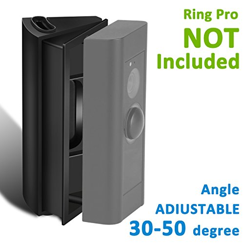 Adjustable (30 to 50 Degree) Angle Mount for Ring Video Doorbell Pro (Released in 2016), Homono Angle Adjustment Adapter/Mounting Plate/Bracket / Wedge Kit (Doorbell NOT Included)