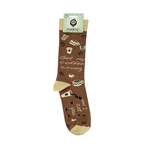 Get My Coffee Flawed And I Cut You Funny Novelty Socks