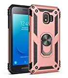 Samsung Galaxy J2 Core case Protective Cover 360 Degree Ring with Holder Kickstand Hard Shell for Magnetic Car Mount (Pink)