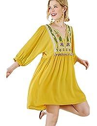 Umgee Women's Bohemian Tunic Dress