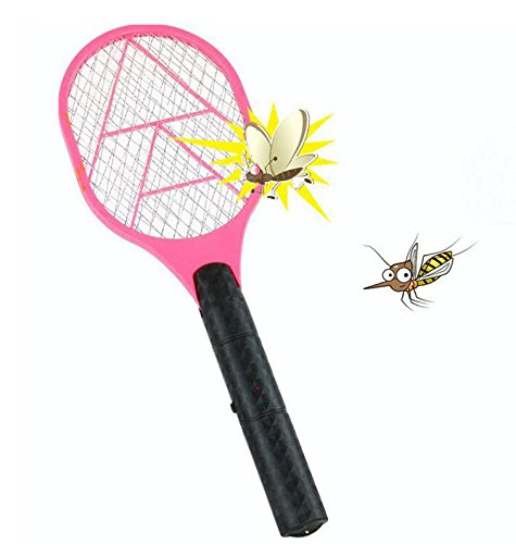 Cankun Best Electric Mosquito Swatter Racket For Indoor And Outdoor 3 Layer Wasp, Bug & Mosquito Trap And Zap Pest And Insect Control- Specialized Pink, Blue, Yellow, Green For Your Choice