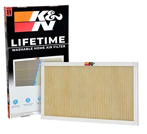 (K&N Home Reusable Air AC Furnace Filter, 16x25x1)