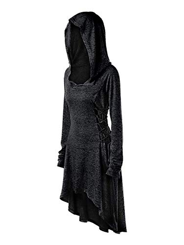 Pxmoda Womens Medieval Gothic Costume Robe Coat Long