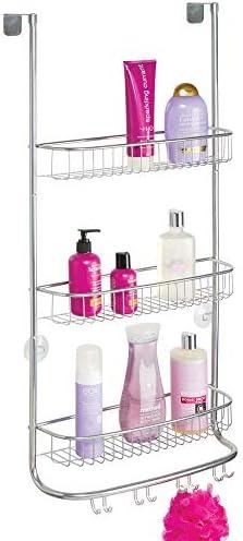 mDesign Estantería de ducha para colgar – Colgador para ducha de ...