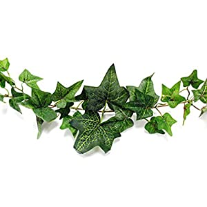 2 X Darice MC-1975 Flocked Ivy Garland, 6-Feet 10
