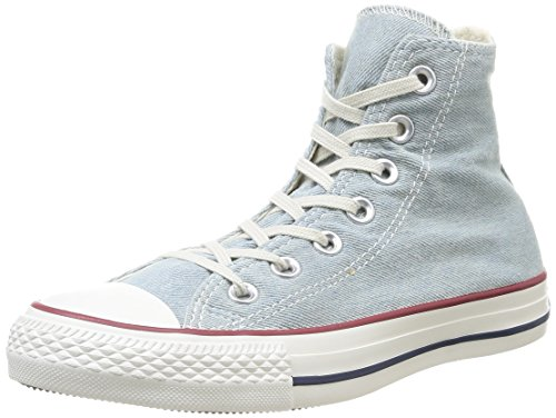 Converse Star Hi Denim, Sneaker, Unisex - Adulto Light Blue Denim Washed