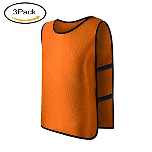 LERGOスポーツフットボールサッカーチームトレーニングPinnies/Scrimmage Vests/Practice Jersey forキッズ、子供、子供用 B07DLXT3PZ 1-Pack|オレンジ オレンジ 1-Pack