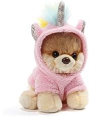 Gund Dog Plush Toy with Pink Unicorn Costume